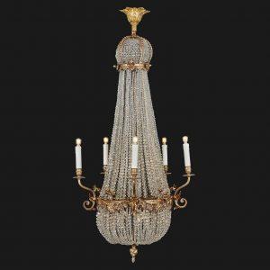 antico-lampadario-impero-1800-in-cristallo-e-bronzo-dorato