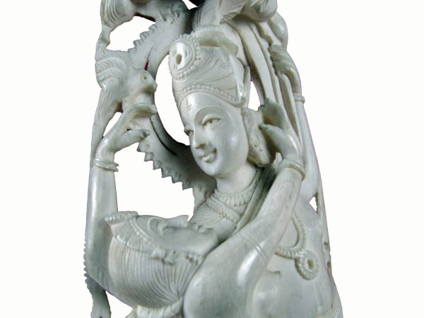 Early 20th Century Indian Carved Ivory Group of Embracing Lovers
