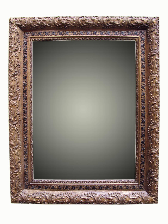 Specchiera dorata liberty degli inizi del 1900 for Specchio 1900
