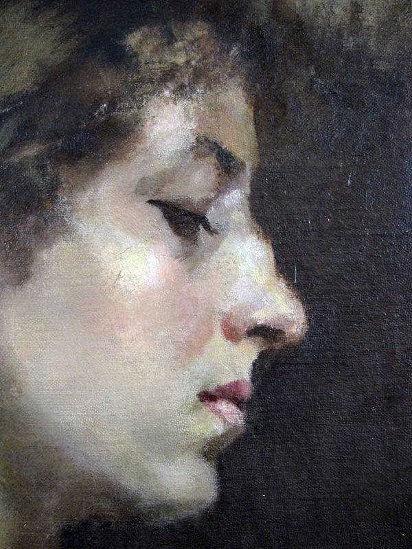 Antique Female Portrait by Couvin