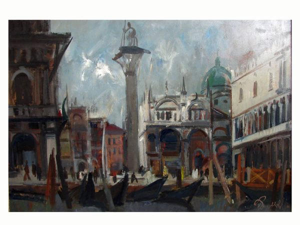 View of Venice signed by Cippo Perelli 1972