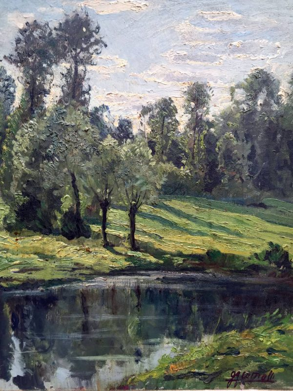 G. Comolli, Paesaggio Lacustre
