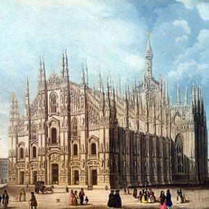 Il-Duomo-di-Milano,-1840