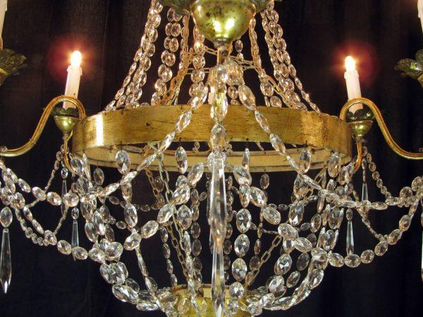 Antique Louis XVI six light Chandelier