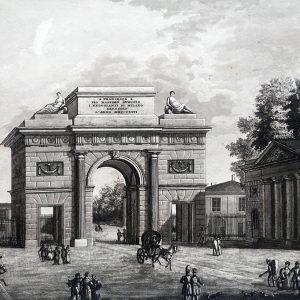 Naymiler,-Porta-Comasina-in-Milano 1828-40