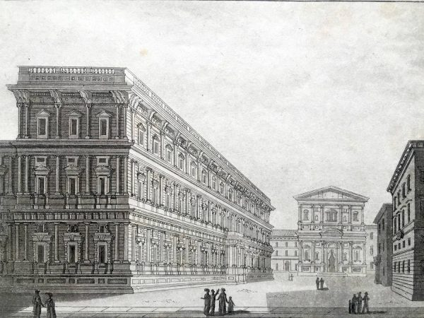 Palazzo Marino a San Fedele Stampa Antica Milano