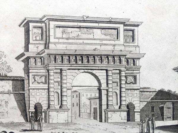 Stampa Antica di Milano Porta Romana