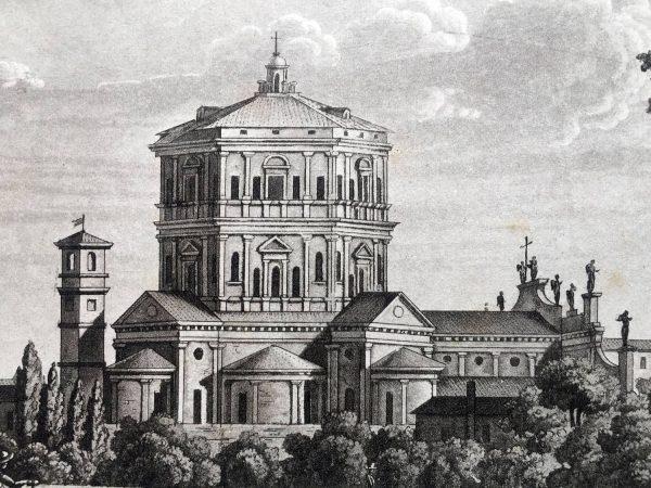 Veduta di Santa Maria della Passione in Milano