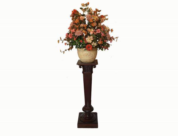 Early 1900 Mahogany Pedestal Column