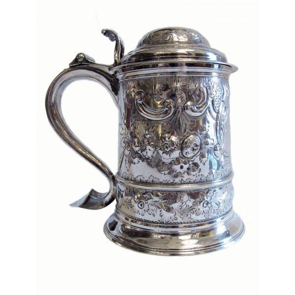 George III Solid SIlver Tankard
