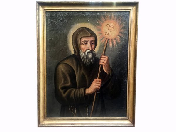 19th century Italian Saint Francis of Paola Portrait