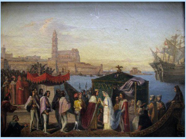 Re Manfredi incontra Elena a Trani