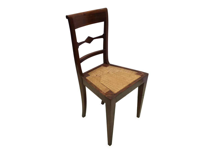 Sedie antiche in noce dell\'Ottocento