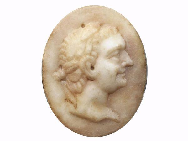 Italian Grand Tour Marble Plaque Relief of Emperor