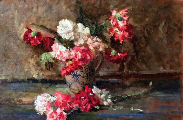Cremonesi Ambrogio Antique Still Life of Roses
