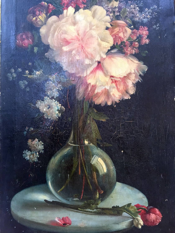 Composizione Di Fiori Dei Primi Del 1900