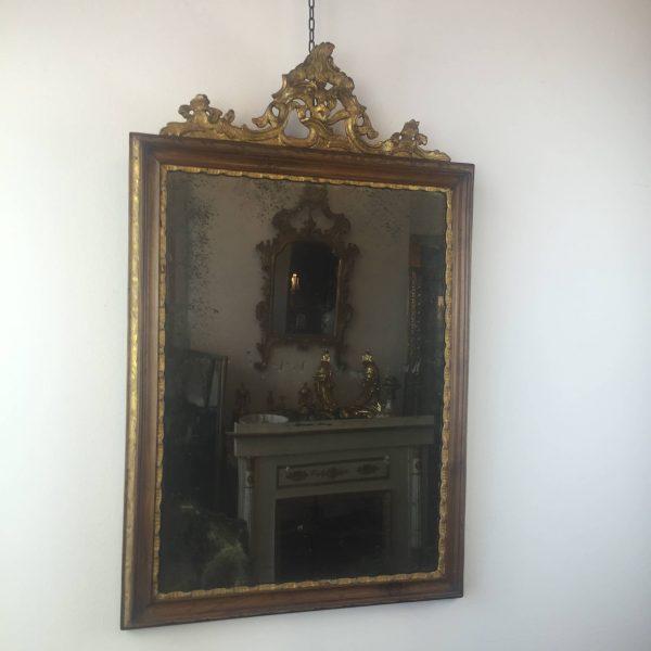 Specchiera luigi xv in noce e oro con specchio al mercurio - Specchio al mercurio ...