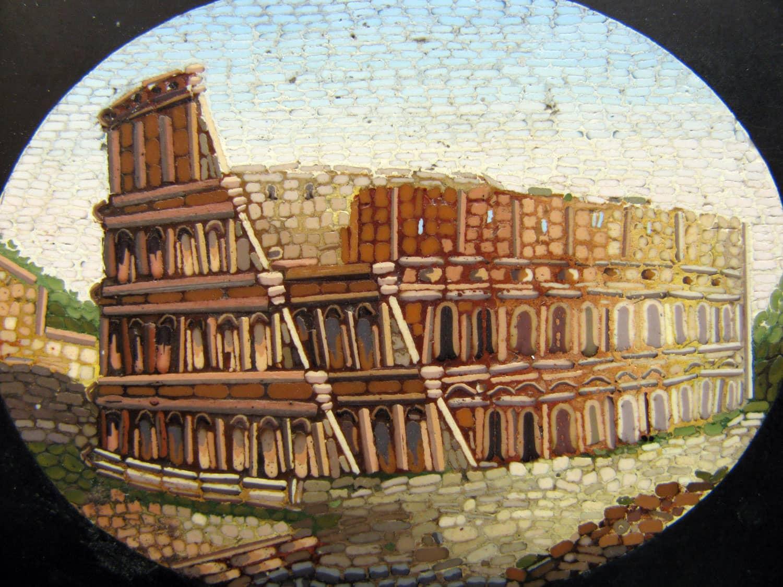 Antique Grand Tour Italian Micro Mosaic Architectural
