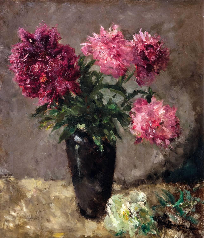 E pick morino vaso di fiori mazzo di peonie for Vasi di fiori dipinti