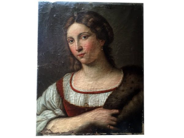 Early 19th Century Young Lady Portrait from Southern Italy