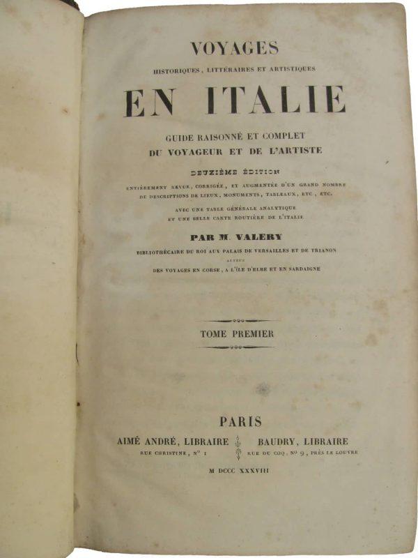 M. Valery, Voyage en Italie, Paris 1838