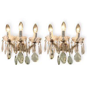 Coppia di appliques maria teresa in cristallo