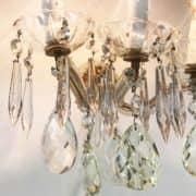 Coppia di appliques maria teresa in cristallo d