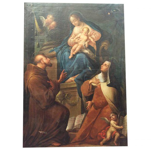 Madonna con Bambino con Santi e Cherubini