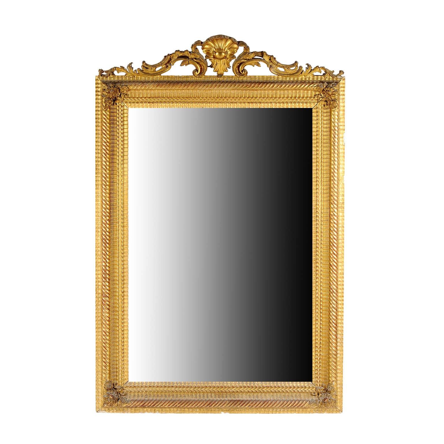 Grande specchiera dorata francese del 1800 ideale per la sala for Specchio antico piccolo
