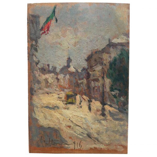 A. Cattaneo, Veduta Urbana, 1916
