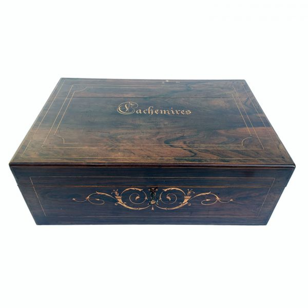 Antique Luxury  Rosewood Box for Cachemire