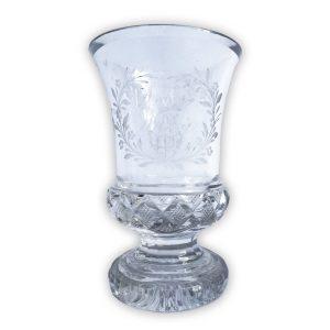 Bicchiere in Cristallo Molato Biedermeier