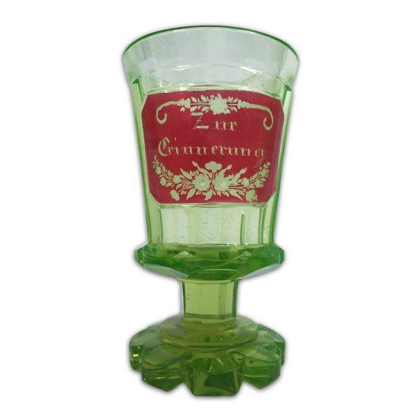 Bicchiere Antico Ricordo in Vetro di Boemia