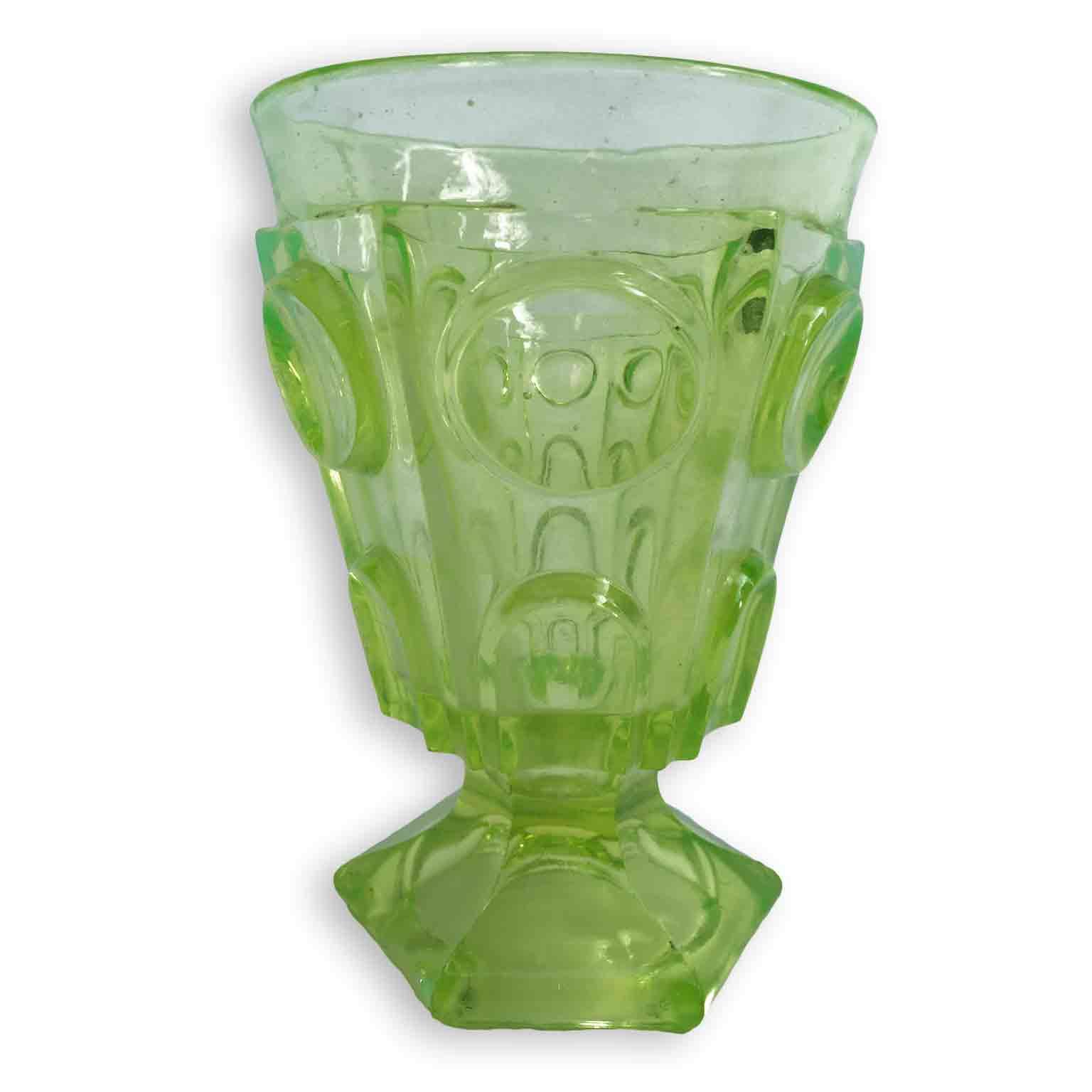Bicchiere in Vetro all'Ossido di Uranio