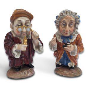 Coppia Di Caramogi Antiche Porcellane Ginori
