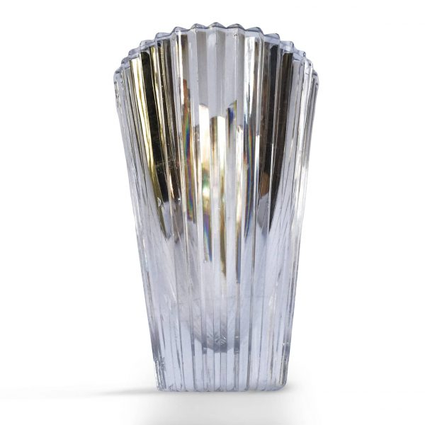Antico Vaso da Fiori in Cristallo Molato