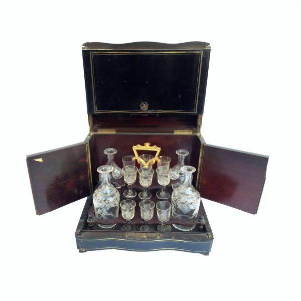 Scatola Francese Napoleone III Con Servizio da Liquore
