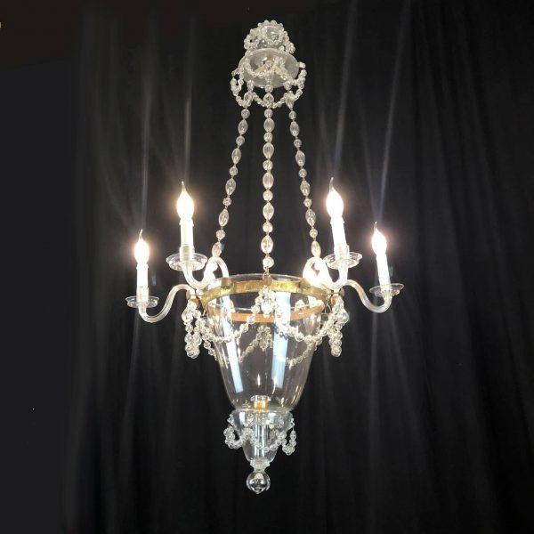19th Century Venetian Murano Glass Six-light Chandelier
