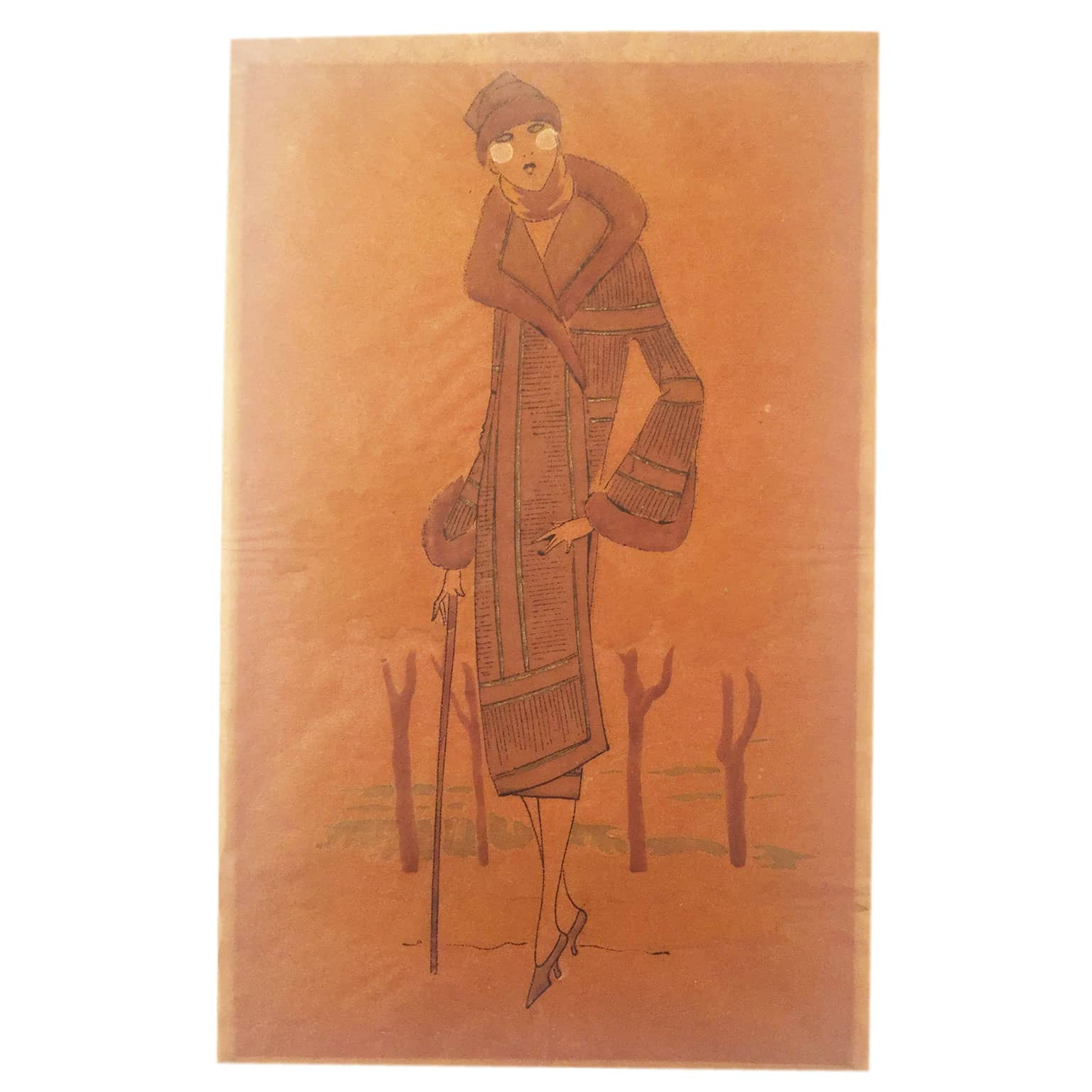 Super Splendido disegno a china ed acquerello per vestiti di moda HM67