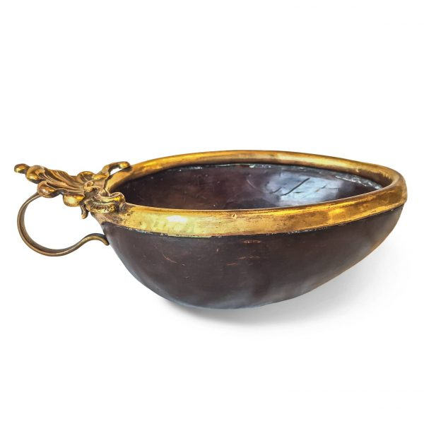 Early 18th Century Tuscan Gilt Copper Coconut Cup