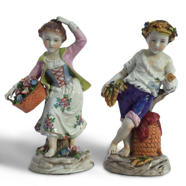 Capodimonte Porcelain Figures, Spring and Summer Allegory