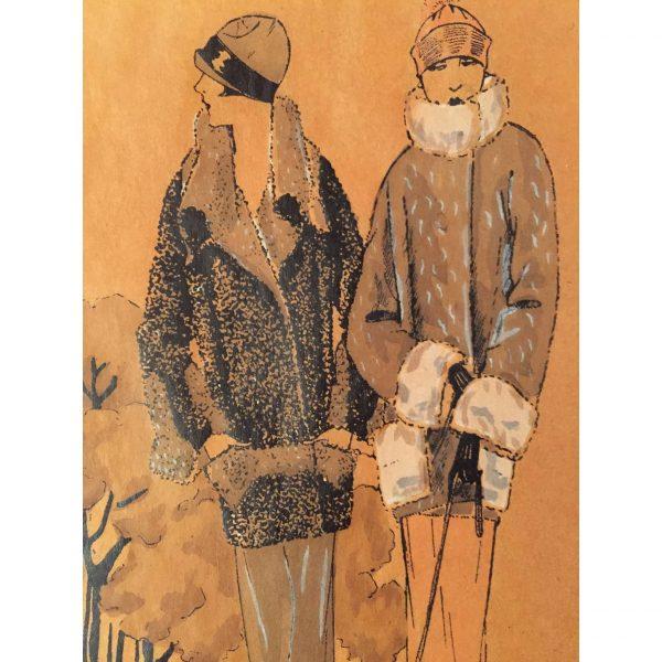 Disegno d'Alta Moda dei primi del 1900