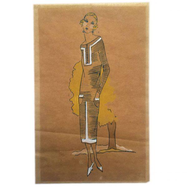 Belle Epoque Women's Fashion Drawing