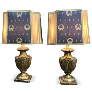 Pair of Empire Table Lamps from Italy early 1800