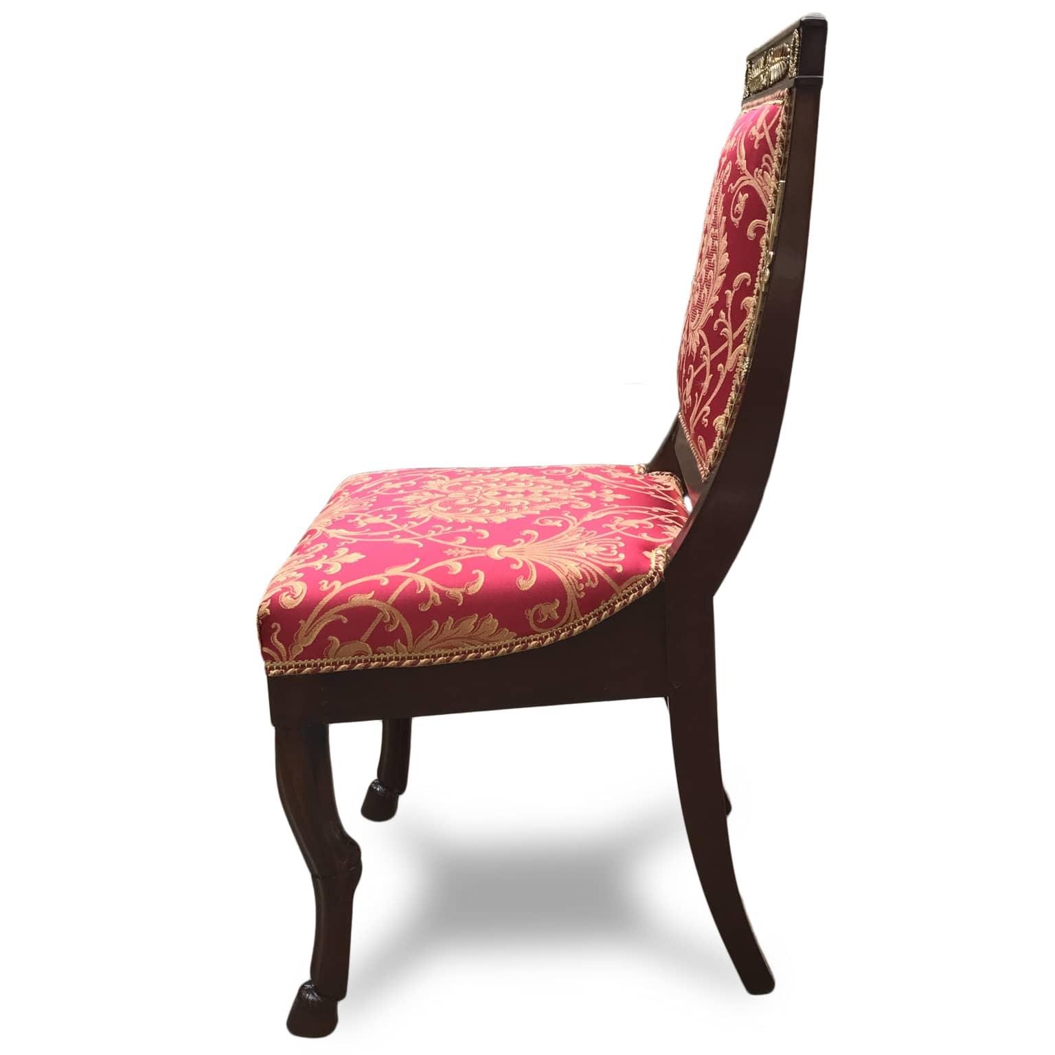 Quattro sedie impero in mogano for Sedie in regalo