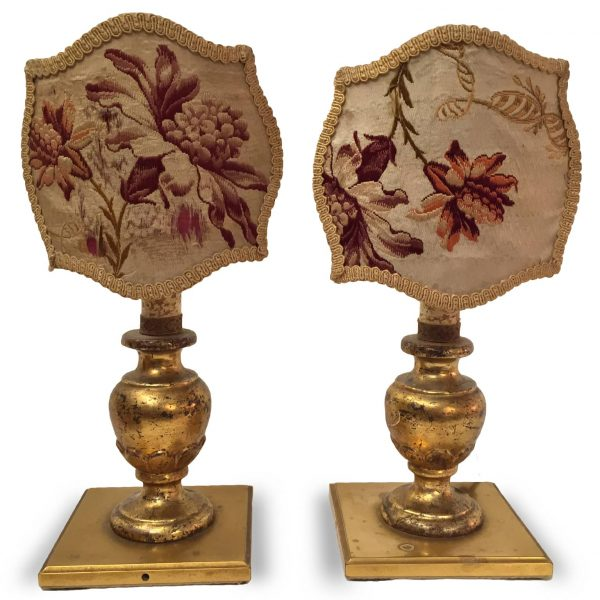 Coppia di lampade antiche da comodino in legno dorato - Ebay lampade da tavolo antiche ...