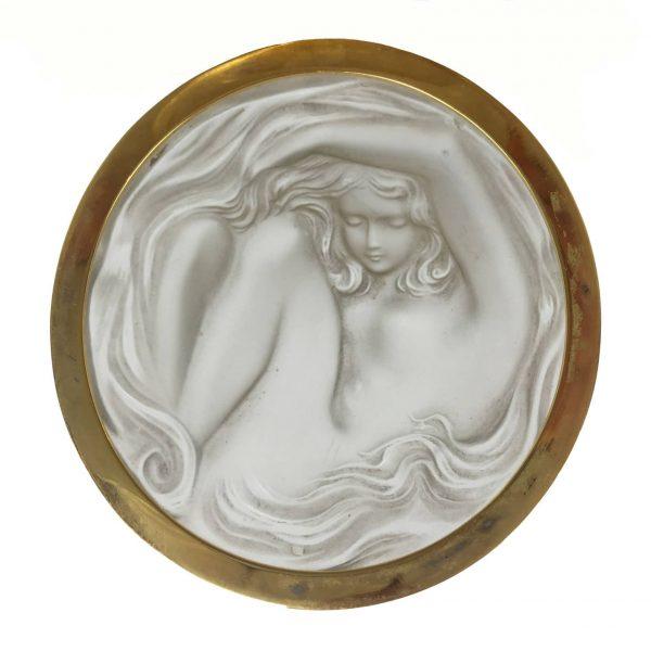 "Scatola Tonda in Vetro Lalique ""Daphne"""