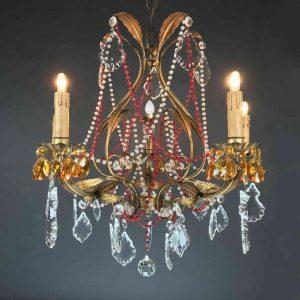 lampadario-antico-cristalli-rossi-d