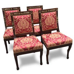 quattro sedie Impero