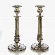 coppia candelieri neoclassici argento